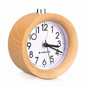 Analoger Wecker Ohne Ticken : leise vintage wood tischuhr ohne ticken naturholz in hellbraun navaris analog holz wecker ~ Orissabook.com Haus und Dekorationen