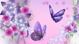 butterfly wallpaper purple pink - Wallpaper