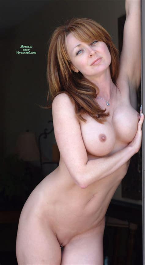 Nude Redhead Standing In Doorway April Voyeur Web Hall Of Fame