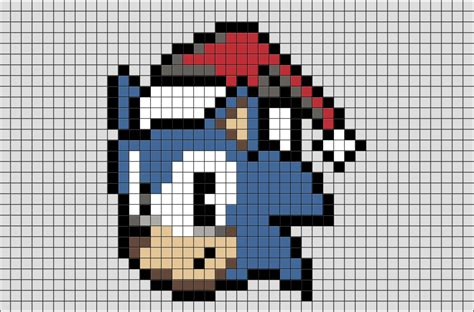 Sonic The Hedgehog Pixel Art
