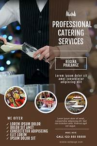 Small Church Budget Template Catering Service Flyer Template Postermywall