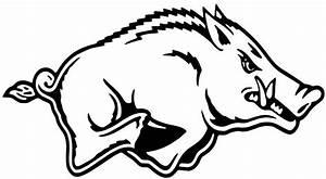 "2 Arkansas Razorbacks Cornhole Decals LARGE 17x9"" Bean Bag"