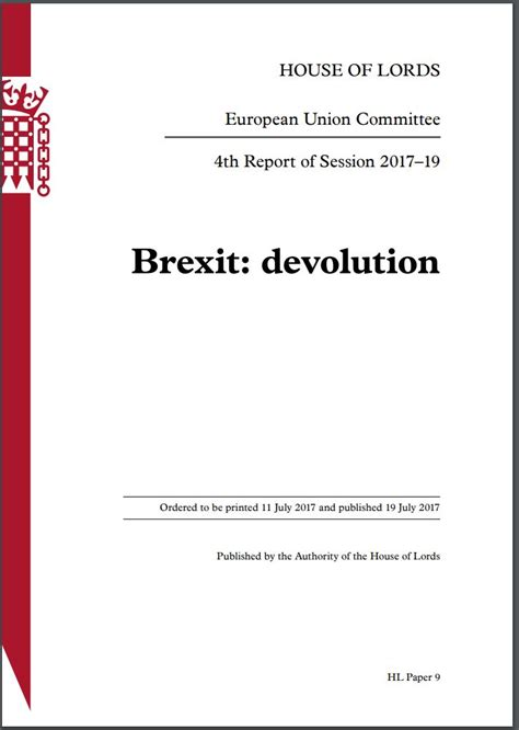 Brexit 'exacerbates' NI divisions, says House of Lords ...
