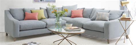 Blue Linen Sofa by Corner Sofas Comfy L Shaped Sofas Loaf