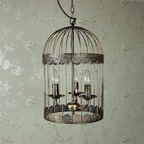black gold metal chandelier birdcage ceiling light fitting