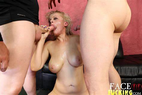 Comely Blond Throating And Getting With Her Prick