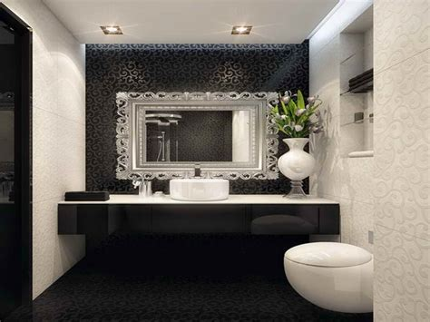 salle de bains de luxe decoration black white bathroom with decorating mirrors ideas best interior decorating mirrors