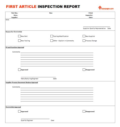 article inspection iso procedures  article
