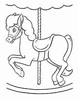 Carousel Horse Coloring Pages Drawing Simple Unicorn Printable Template Getdrawings Getcolorings Sketch Place sketch template
