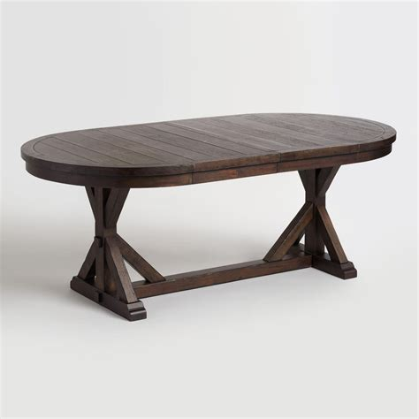 inexpensive coffee tables rustic brown oval wood brooklynn extension dining table