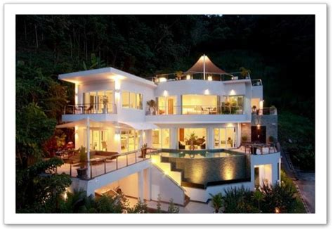 cuisine sur 3 grande villa moderne en thaïlande
