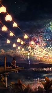 ah43 firework anime illust papers co