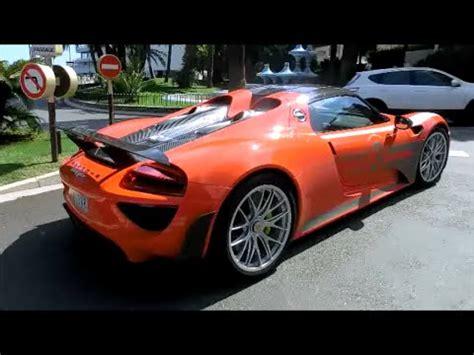 Porsche 918 Acceleration by Orange Porsche 918 Spyder Loud Acceleration