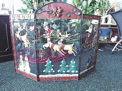 santa fireplace screen fireplace screen santas santa reindeer