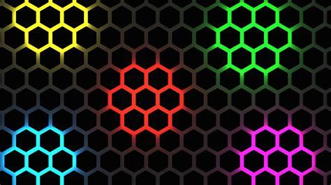 Multicolor Hexagon Pattern 4K UHD Wallpaper