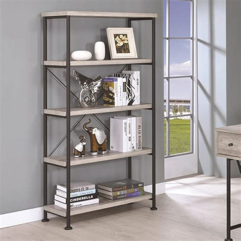Small Metal Bookcase by Coaster Guthrie 801546 Small Wood And Metal Open Bookcase