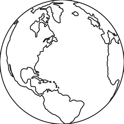 earth outline globe drawing of earth clipart best