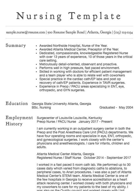 staff nurse resume sample resumecom