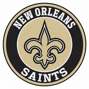 "New Orleans Saints Roundel Area Rug – 27"""