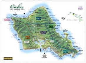 Detailed Map of Oahu Island Hawaii