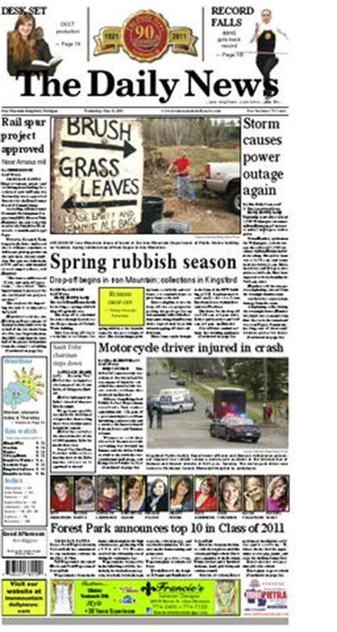 iron mountain daily news     james anderson issuu