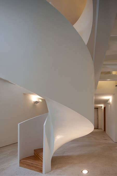 contemporary portuguese architecture spiral staircase