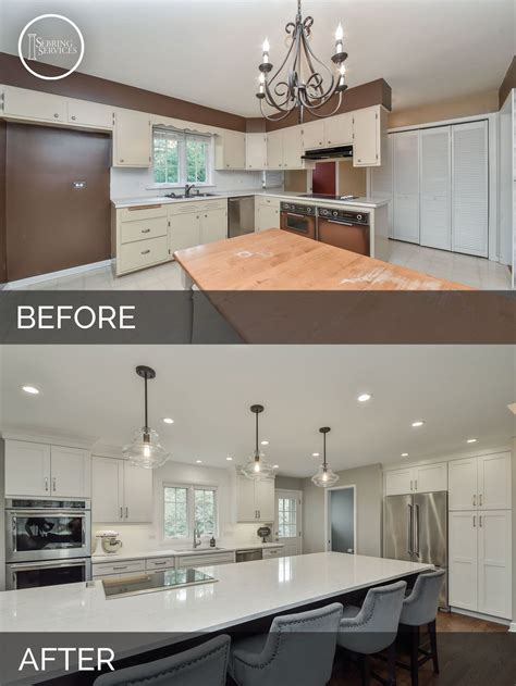 Kitchen Floor Plans And After by Before And After Open Floor Plan Kitchen Living Room