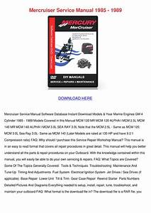 Mercruiser Service Manual 1985 1989 By Koreyhughes