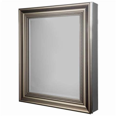 Decorative Medicine Cabinets Framed - glacier bay 24 in w x 30 in h framed recessed or surface