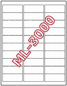 15000 maco ml 3000 mailing address labels 2 5 8quot x 1 With maco label template