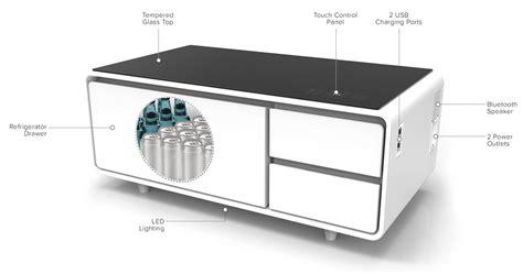 Sobro  Smart Coffee Table W Fridge, Speakers, Led Lights