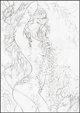 Coloring Ivy Poison Adult Fairy Adults Drawings Line sketch template