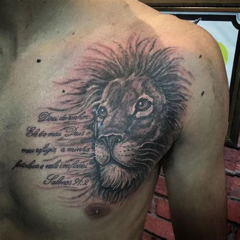 lion chest tattoo  quote tattoo lion tattoo lion