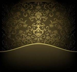 Decorative design background with floral golden ornament stock photo