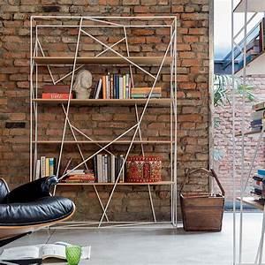 Bücherregal Metall Holz : naviglio 7247 b cherregal tonin casa aus metall mit f cher aus glas oder holz in verschiedenen ~ Sanjose-hotels-ca.com Haus und Dekorationen