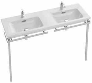 Double Vasque 140 Cm : vox plan vasque double 140 cm jacob delafon france ~ Melissatoandfro.com Idées de Décoration