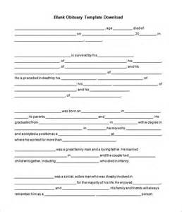 printable funeral program templates free obituary template cyberuse