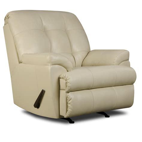simmons upholstery 9568 casual rocker recliner dunk