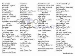 100 Catchy Hair Salon Names – Salon Equipment Blog