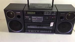 Radio Cd Kassette : panasonic rx dt680 cd radio double cassette boombox youtube ~ Jslefanu.com Haus und Dekorationen