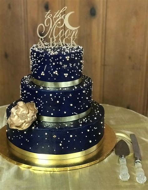 denim  diamonds gold wedding cake wedding cake