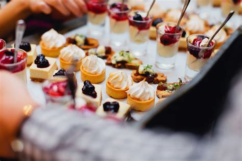 dessert canapes bursaria best melbourne wedding caterers bursaria