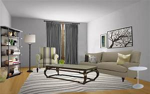 Best light grey paint color for living room living room for Amazing blue gray living room