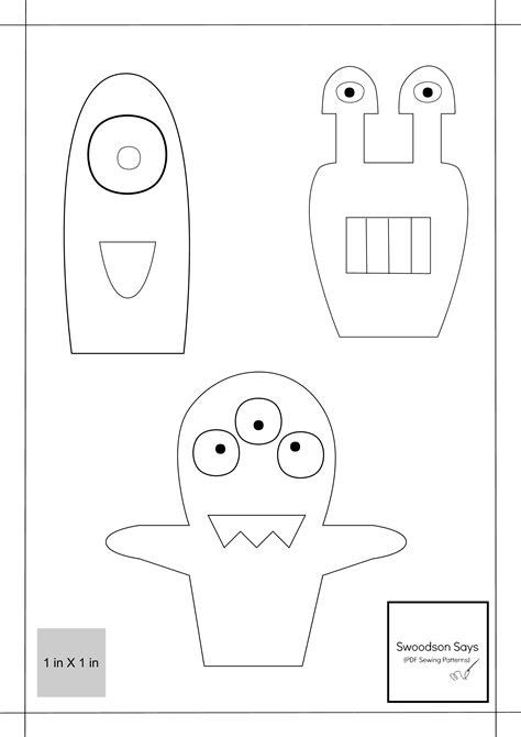 monster finger puppets tutorial fleece fun