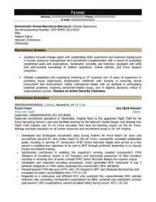 human resources specialist resume free federal resume sle from resume prime