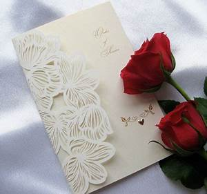 Lily laser cut wedding invitations cards 4 ever edinburgh for Laser cut wedding invitations edinburgh