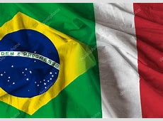 Flag between Italy and Brazil — Stock Photo © filipefrazao