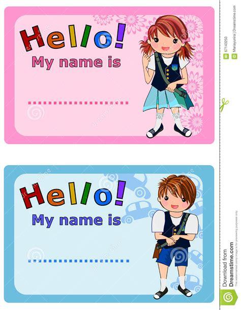 tag  kids stock illustration image