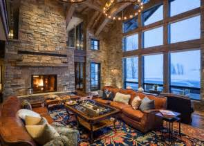 Mountain Cabin Designs Inspiration by 17 Beautiful Rustic Living Area Interior Designs For Your