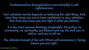 Fundamentalism is Self-Righteousness
